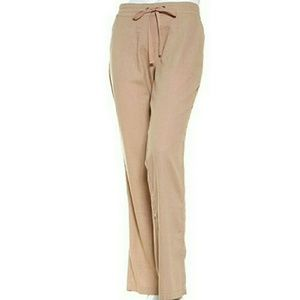 Per Se Solid Drawstring Pants Size M